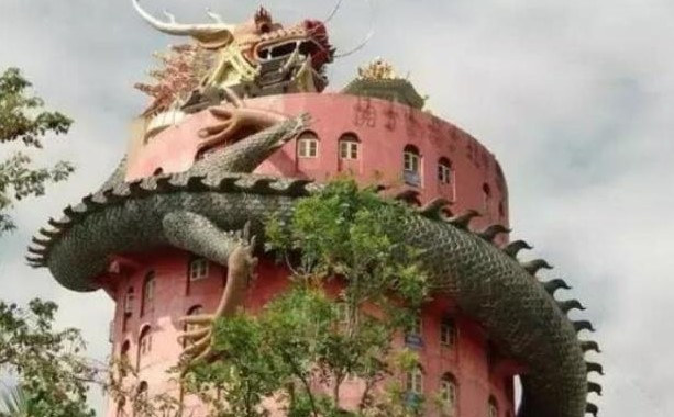 Thailand, WatSampran, 壁画, 寺庙, 巨龙, 泰国